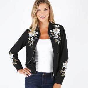 Kut From The Kloth-Sequin Embroidery Bomber Jacket